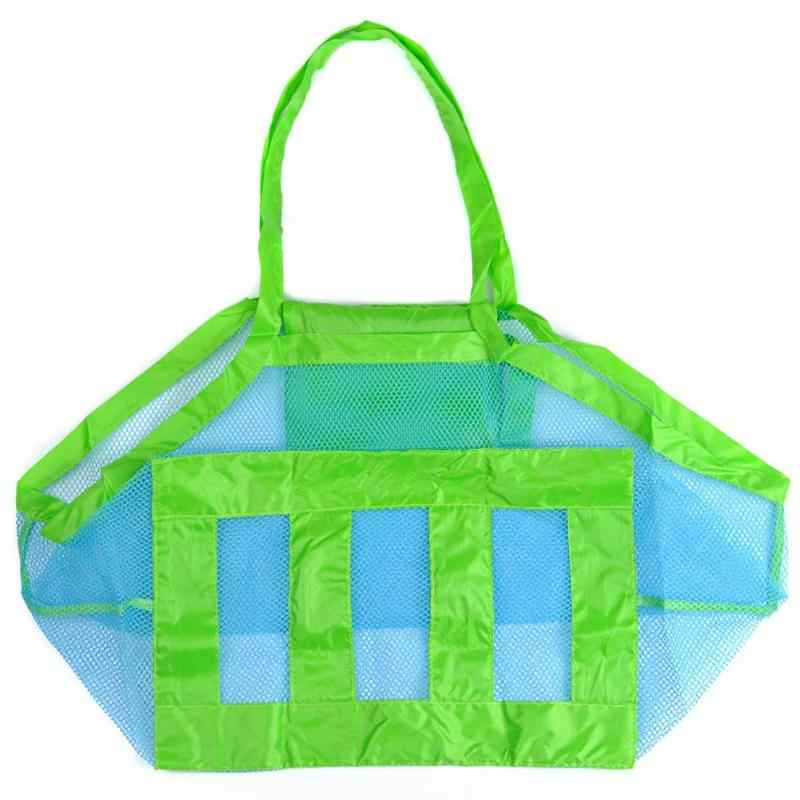 Children Baby Mesh Bag Kids Foldable Beach Bag Boy Gilrs Bath Toy Storage Hanging Big Volume Outdoor Suction Cup Baskets