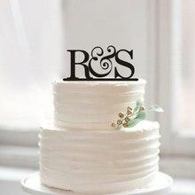 Первоначальное название торт Топпер, жениха и невесты начального торт Toppers, свадебный торт украшения акрил письмо торт Аксессуары сувениры