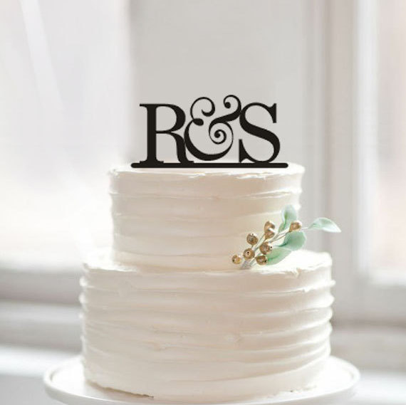 Personalized Wedding Cake Topper Bride And Groom Initials Custom 2