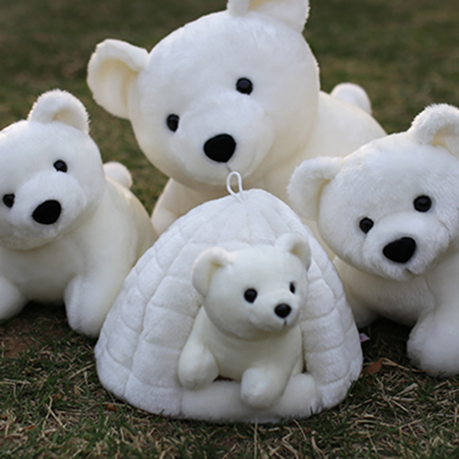 Polar Bear Plush Toys Cute White Bear Dolls Stuffed Cute Animal Soft Stuffed Plush Toy Peluches De Animales For Children 70C0117 2018 huge giant plush bed kawaii bear pillow stuffed monkey frog toys frog peluche gigante peluches de animales gigantes 50t0424
