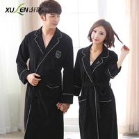 Spring And Autumn Lovers Robe Male 100 Cotton Summer Bathrobe Medium Long Women S Toweled 100