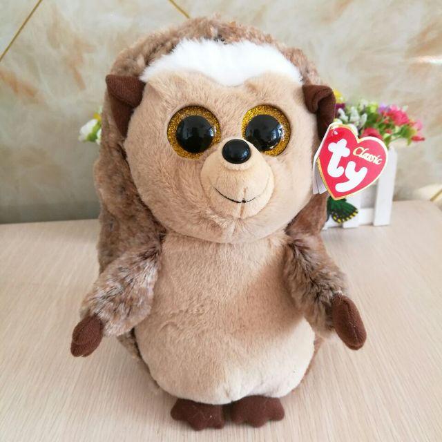 b385d267297 TY BEANIES 25CM 10inch Ida hedgehog pinecone hedgehog Big Eyes Plush Toys Stuffed  animals children toy