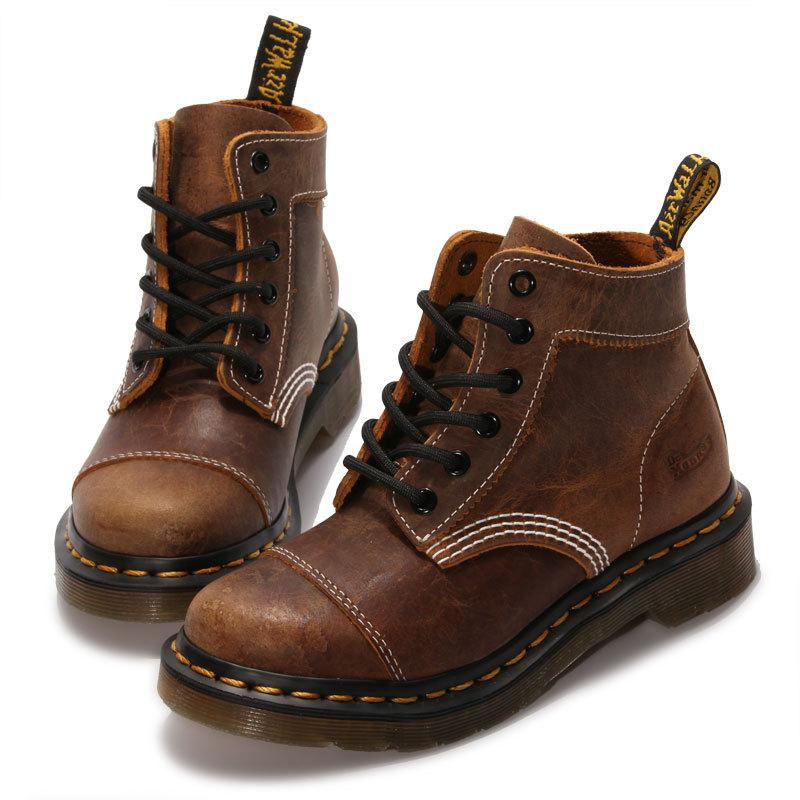 Classical Vintage Martin Boots Gebuine Leather Short Boots Autumn Winter Ankle Boots Fashion Casual Lace-up Shoes Leather Shoes front lace up casual ankle boots autumn vintage brown new booties flat genuine leather suede shoes round toe fall female fashion