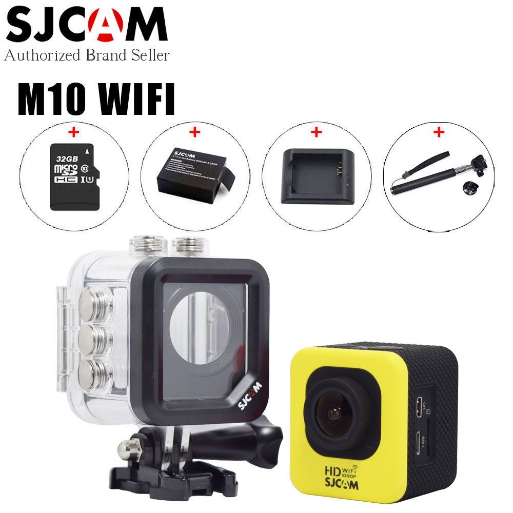 Original SJCAM M10 Wifi Action Video Camera 1080P FUL HD 30m Waterproof Diving Mini Sport Camcorder DV with Extra Many Accessory action camera full hd 1080p 2 0 screen14mp double wifi waterproof diving sport camera dv fpv dvr helmet pro video camcorder