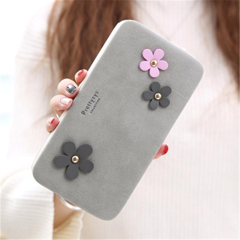 все цены на 2017 Fashion Women's Wallet Large-Capacity Clutch Lovely Flowers Vintage Ladies Handbag Purse Card Holder Free Shipping J441 онлайн