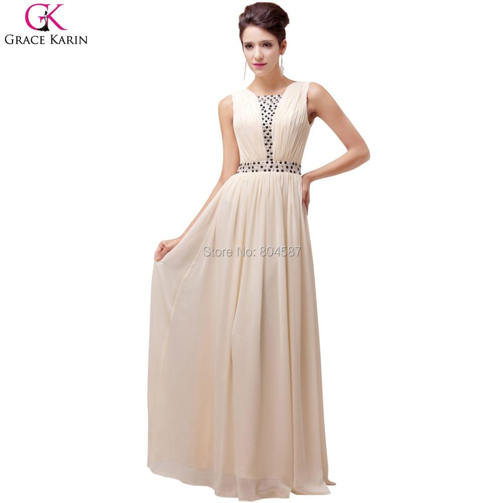 robe bal de promo simple design vestido de festa grace karin beaded lace up chiffon long prom
