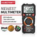 HABOTEST HT118A / C / D Multímetro digital Gama automática NCV True RMS Contagem AC / DC 6000 Visor de duas cores Voltage Indicator light tester