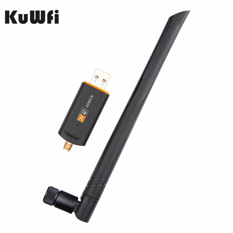 1200Mbps USB אלחוטי Wifi מתאם 2.4GHz 5.8GHz RTL8812BU אלחוטי-AC רשת כרטיס PC Wifi מקלט עבור MAC/Liunx OS/Windows7/8
