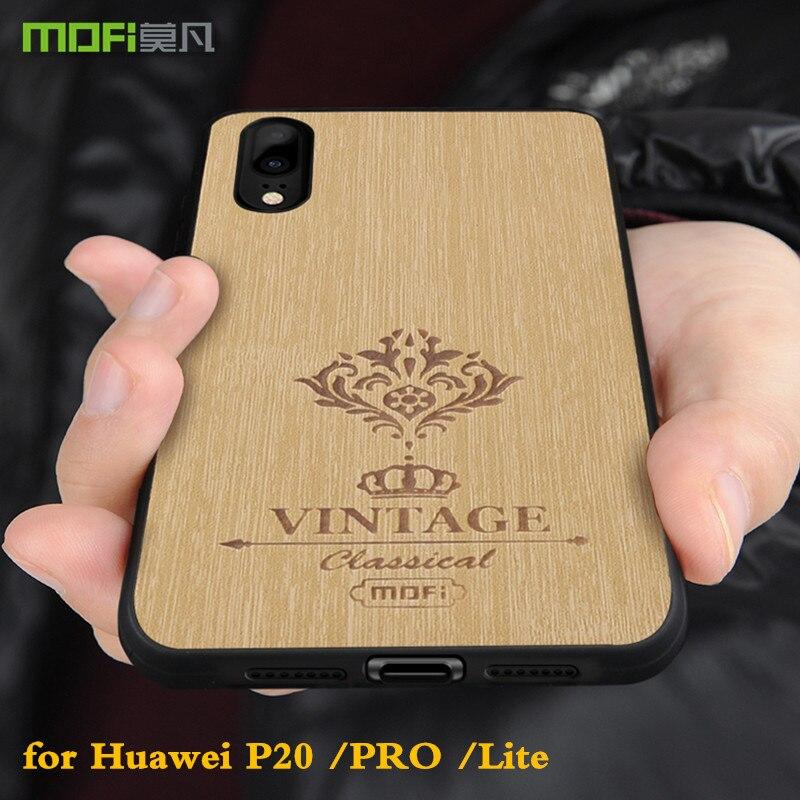 MOFi D'origine Retour Cas pour Huawei P20 Dur PC Couverture pour P20 lite PU En Cuir pour Ascend P20 Pro Silicone logement Conque Nova 3E