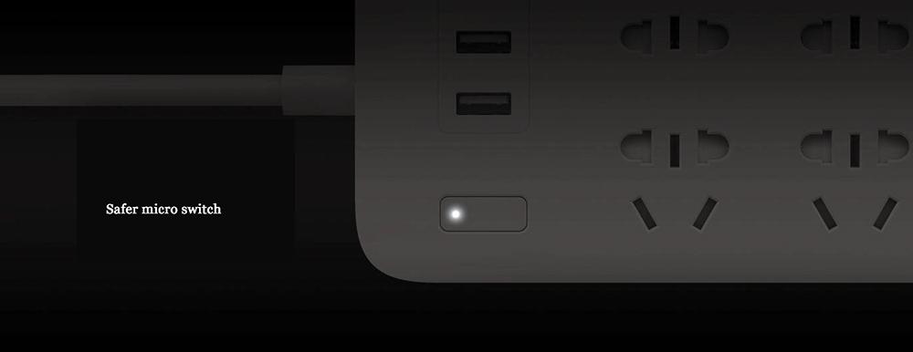 XIAOMI MIJIA Smart Power Strip 2A Fast Charging 3 USB Extension Socket Plug 6 Standard Socket Adapter 1.8m 100% Original (8)