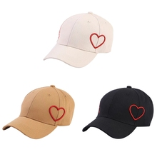 Hot sales Fashion Leisure Hats INS Pure Love Couple Peach Heart Baseball Cap