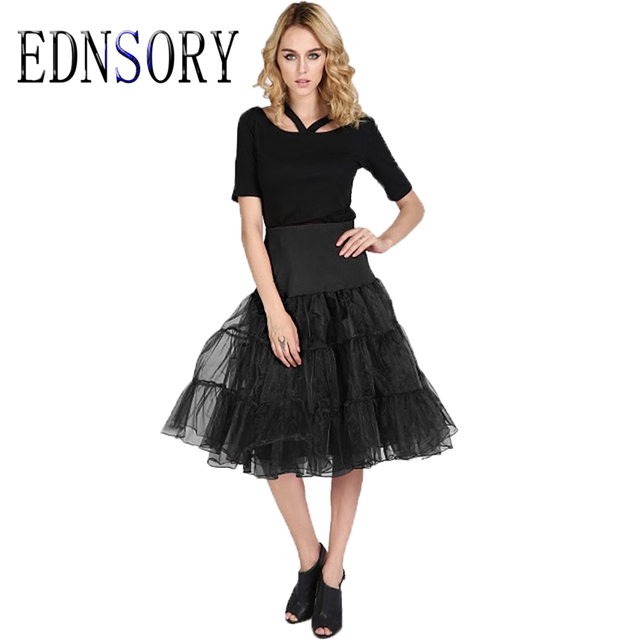 Free Shipping Organza Petticoat Crinoline Vintage Ballet will Petticoat for Wedding Dresses Underskirt Rockabilly Tutu