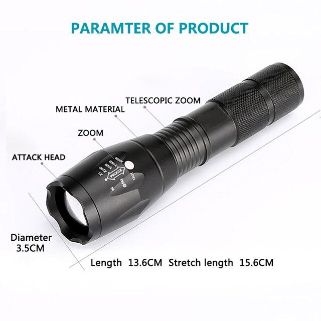 Z10 Litwod C8 lampe de poche LED tactique haute puissance XM-L2 T6 U3 lampe de poche auto-défense lampe torche lanterne pour la chasse vélo lumière lampe