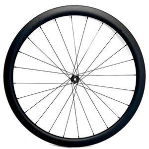 Image 5 - 700c strada ruote a disco 50x27 millimetri tubeless Freno A Disco della bici della strada ruote NOVATEC 100x12mm 142x 12mm Center lock strada ruota a disco in carbonio