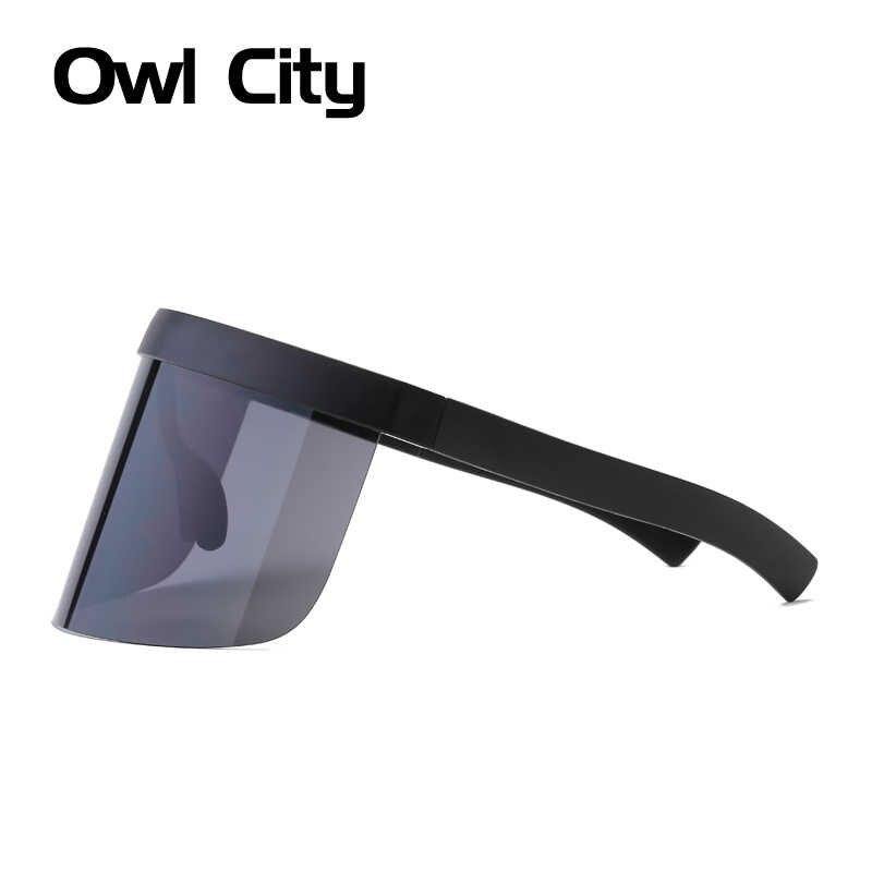 09f84f1f2c ... De Semi-sin montura gafas de sol de las mujeres hombres futurista grandes  gafas de ...