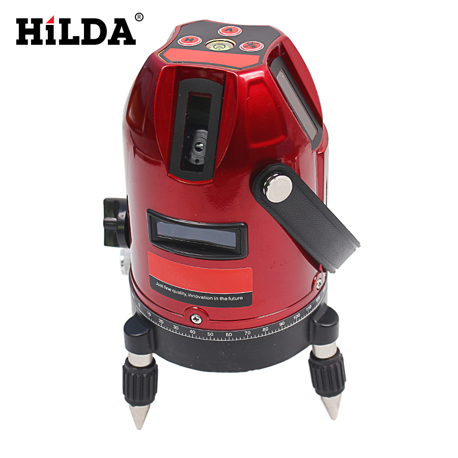 360 rotary cross laser line leveling  5 lines 6 points laser level can be used with outdoor receiver Measuring tools 1pc laser cast line machine multifunction laser line cross line laser rotary laser level 360 selfing leveling 5 line 4v1h3 point