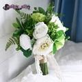 Искусственный букет кот букет свадебные рамо novia букет флер mariage bruidsboeket свадебный букет невесты цветы