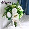 Artificial bouquet de marfil ramo de la boda ramo de novia ramo flor mariage bruidsboeket dama de honor flores
