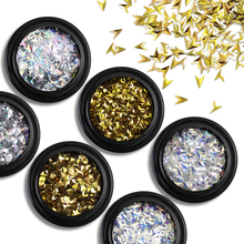 Nail Art Shiny Glitter 21 Styles Gold Silver AB Color Star Moon Manicure Stickers Paillette Sequins Decorations Accessories