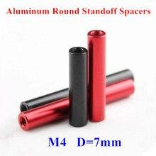 10pcs M4 Aluminum Rods Aluminum Alloy round standoff spacer Spacing screws RC Parts D=7mm M4*15/20/25/30/35/37/40/45/50/55/60mm 10pcs m3 5 6 8 10 12 15 20 25 30 35 40 45 50 m3 thread black aluminum round standoff spacer for rc parts