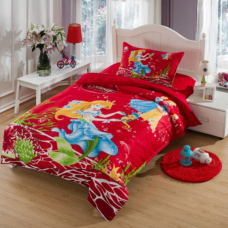 The little Mermaid bedding set twin size kids girls ...