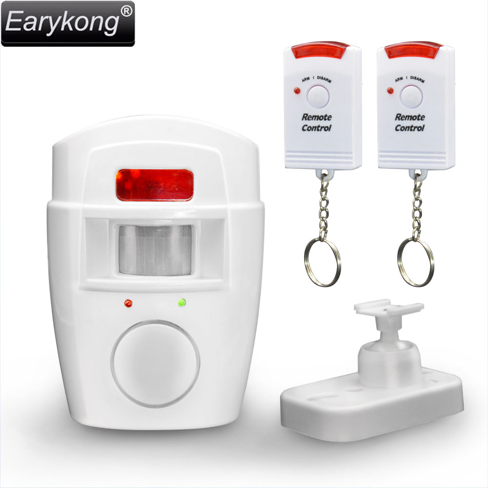 Home Security PIR MP Alert Infrared Sensor Anti-theft Motion Detector Alarm Monitor Wireless Alarm system+2 remote control wireless vibration break breakage glass sensor detector 433mhz for alarm system