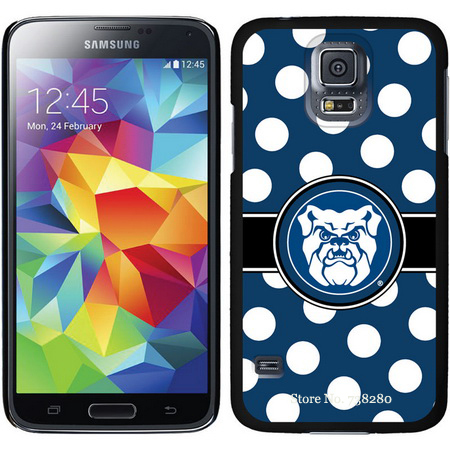Butler Samsung Galaxy S5 Cases With Polka Dots Argyle Repeating Watermark Face Design