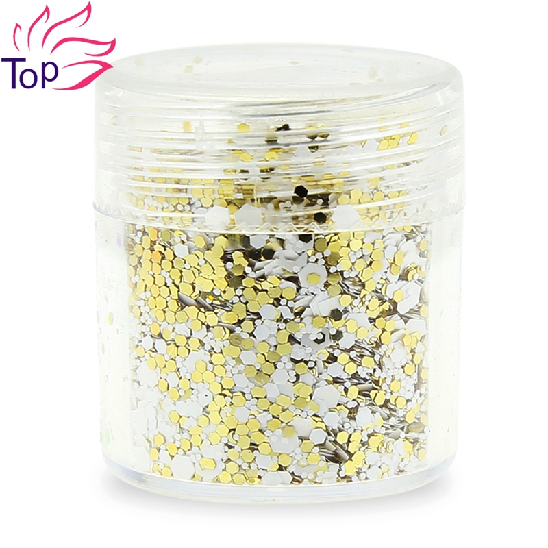 Octagon Design Nail Art Glitters Decoraciones 4 Opción Lentejuelas - Arte de uñas - foto 6