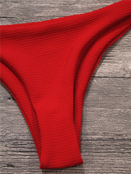 Hirigin Sexy Thong Bikini Set 2019 Women Swimwear High-quality Fabrics Push Up Swimsuit Women Bathing Suit Padded Bikini Solid 10
