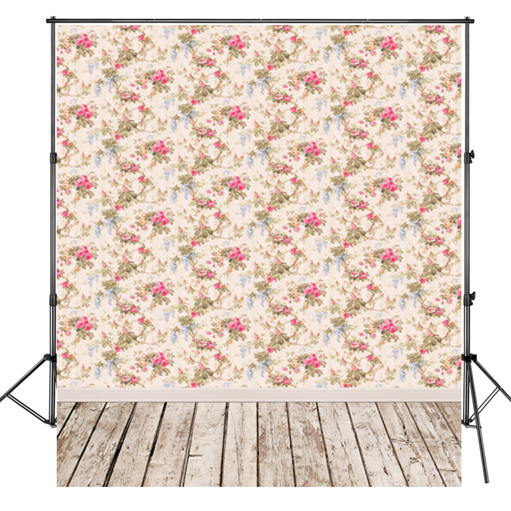 Beautiful Floral Wedding Background Profession Photography Wood
