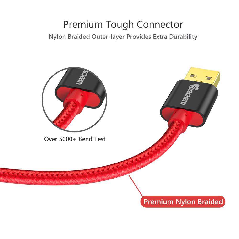 IPhone 5 üçün TIEGEM Neylon Örgülü USB kabel 5 5S 7 Plus 1m / - Cib telefonu aksesuarları və hissələri - Fotoqrafiya 3