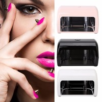 New Portable Mini 9W 3 LED Nail Art Dryer Curing Lamp Machine UV Gel Tips Polish Pink/Black/White