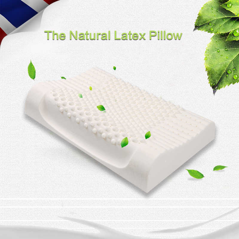Natural Latex Pillow Neck Pillows Cervical Orthopedic Pillow For Sleeping Massage Bedding Pillows With Pillowcase Almofada