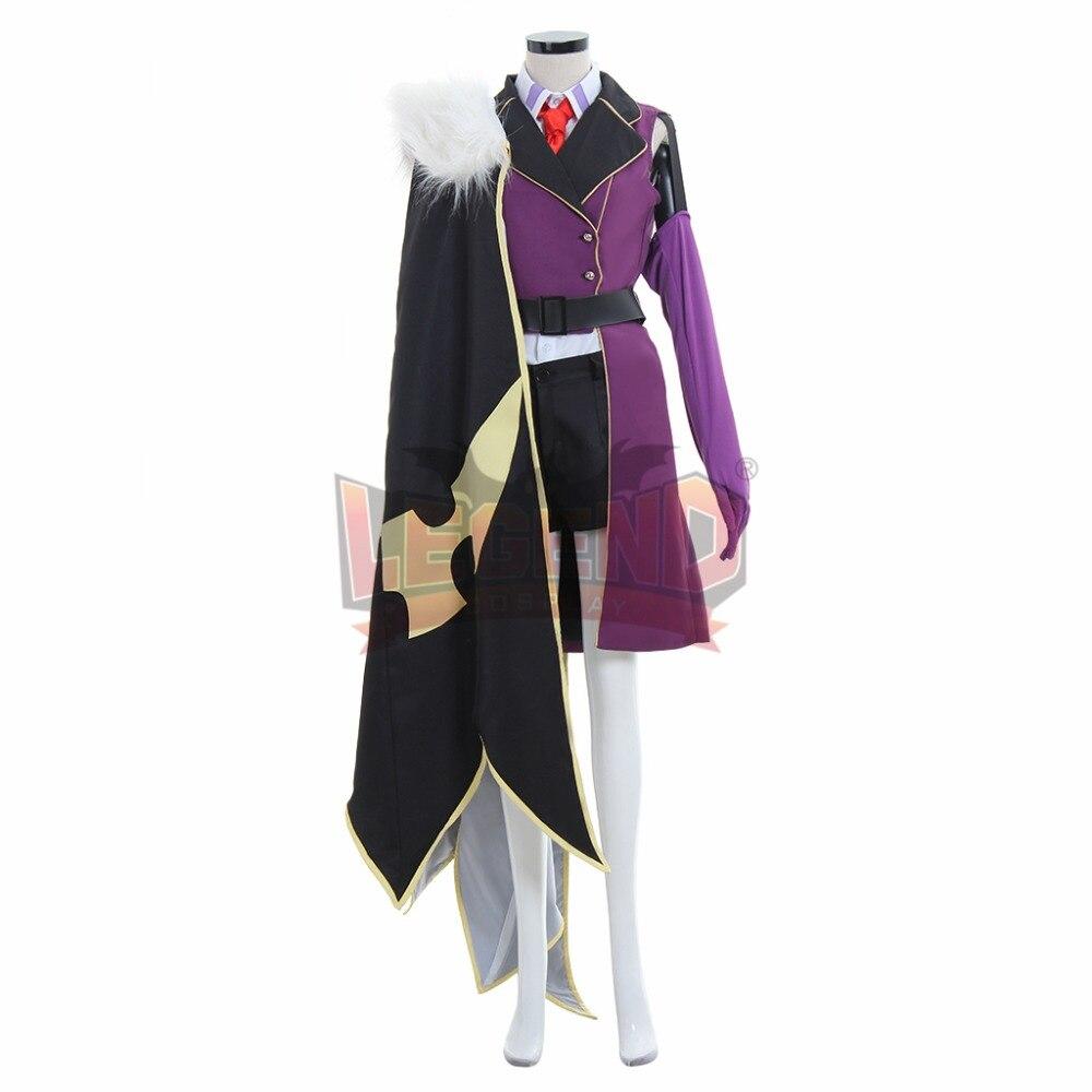 Cosplay legend Code Geass Villetta Nu Military Cosplay Costume All Size custom made full set with cloak