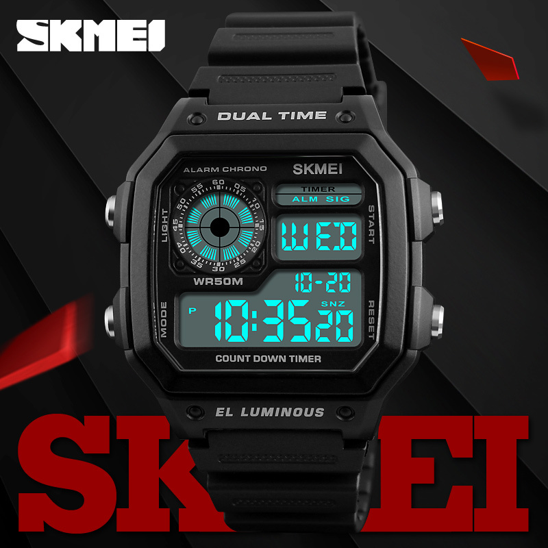 Skmei Famous Outdoor Sports Watches Men Waterproof Countdown Digital Watches Military Wristwatches For Women Man Clock Relogio