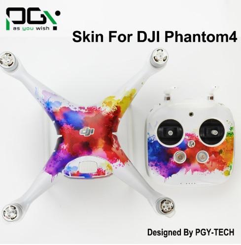 PVC Skin Decal Sticker DJI Phantom 4 Quadcopter professional accessories phantom4 Waterproof 3M Quadcopter Drone parts