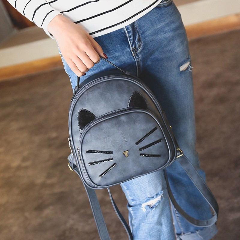 Kawaii Cat Ear Backpack Black Preppy Style School Backpacks For Teenage Girls College Style Casual Backpack Sac Mochilas on Sale (10)