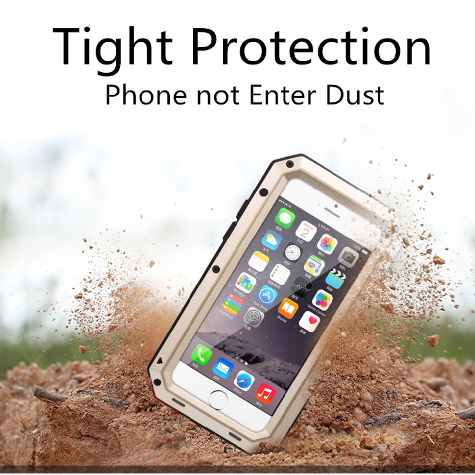 Aluminum Metal Military Shockproof Dustproof Cases For Samsung S7Edge S8 S9  S10 Plus For IPhone 6 6S 7 8 Plus X XR XS MAX Cover (Hot Promo Christmas