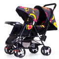 Hot Selling Twins Baby Stroller Portable Folding  Shockproof Baby Car Multifunctional Twins travelBaby Pram
