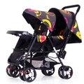 Venda quente Gêmeos Carrinho de Bebê Dobrável Portátil À Prova de Choque de Carro Do Bebê Multifuncional Carrinho De Bebê Gêmeos travelBaby