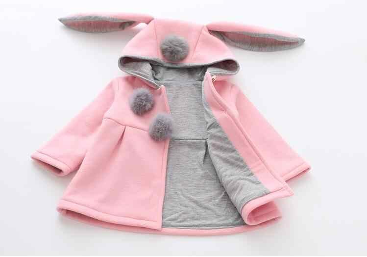 931e346b0a0 ... Дети Банни зима теплая куртка для девочек с рисунком кролика осень  милый Пальто для будущих мам ...
