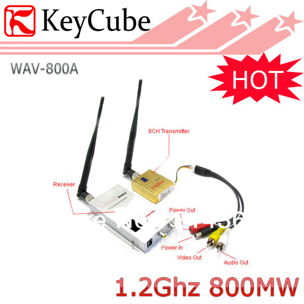 aycube Hot Wholesale 800mW wireless AV Sender Audio Video  transmitter and Receiver Kit 8 Channel 0.8W