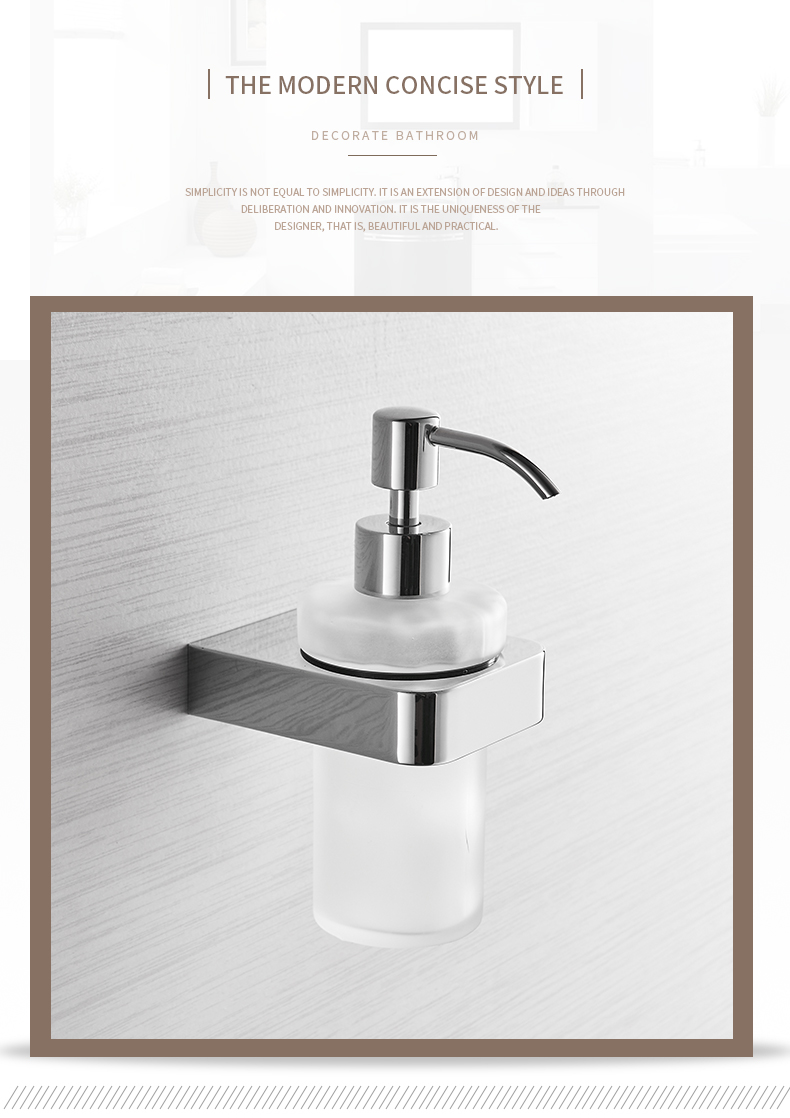 Liquid Soap Dispensers Chrome Color Soap Dispenser Wall Mounted With Frosted Glass Container Bottle Bathroom Products 5781 Liquid Soap Dispensers Aliexpress