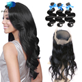 Pre Plucked 360 Lace Frontal with 3Pcs Hot Sale Peruvian Virgin Hair Body Wave 360 Closure with Bundles Ivy Dear Recommend