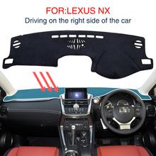 Mata na deskę rozdzielczą do LEXUS NX300H NX200T NX200 akcesoria antypoślizgowa deska rozdzielcza Dashmat Dashcover czarny dywan deska rozdzielcza samochodu dywan tanie tanio smabee CN (pochodzenie) NYLON man-made fibers Black sunscreen dashboard