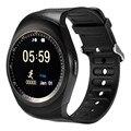 Круглый Bluetooth 4.0 Smart Watch Для Andriod И IOS IPhone Smartwatch Синхронизации SMS Спорт Фитнес Умный Часы Поддержка Sim-карты