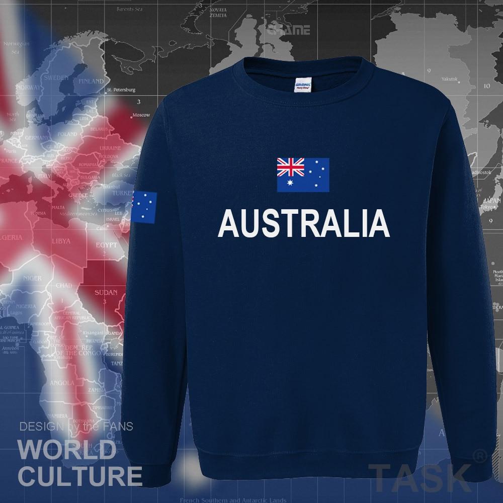 Shirt design online australia - Commonwealth Of Australia Hoodie Men Sweatshirt Sweat Suit Streetwear Clothing Jerseys Tracksuit 2017 Nation Australians Flag