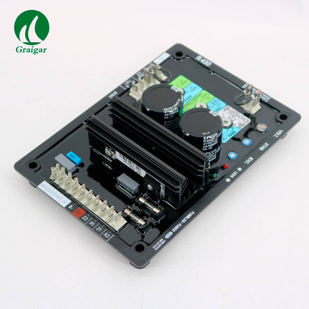 R450 Analog Automatic Voltage Regulator with Transistors Automatic Voltage Regulator New Brushless Generator AVRR450 Analog Automatic Voltage Regulator with Transistors Automatic Voltage Regulator New Brushless Generator AVR