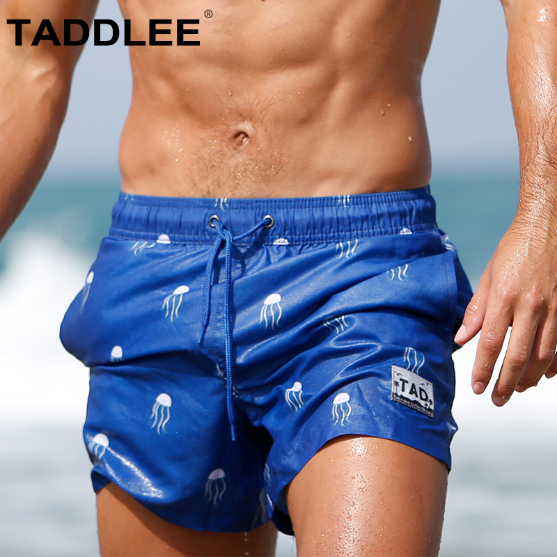 Taddlee Brand Sexy Mens Swimwear   Board     Shorts   Plus Size Swimsuits Long Beachwear Men Swim Boxer Trunks Beach Surf Quick Dry New