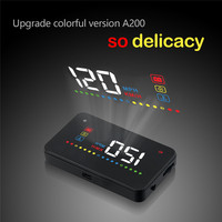 OBD2 Head Up Display Universal Car Speed Projetor On The Windshield Projection HUD Auto A200 Digital Car Speedometer Accessories